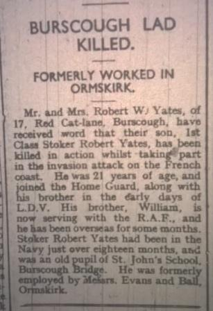 Yates robt Burscough Killed